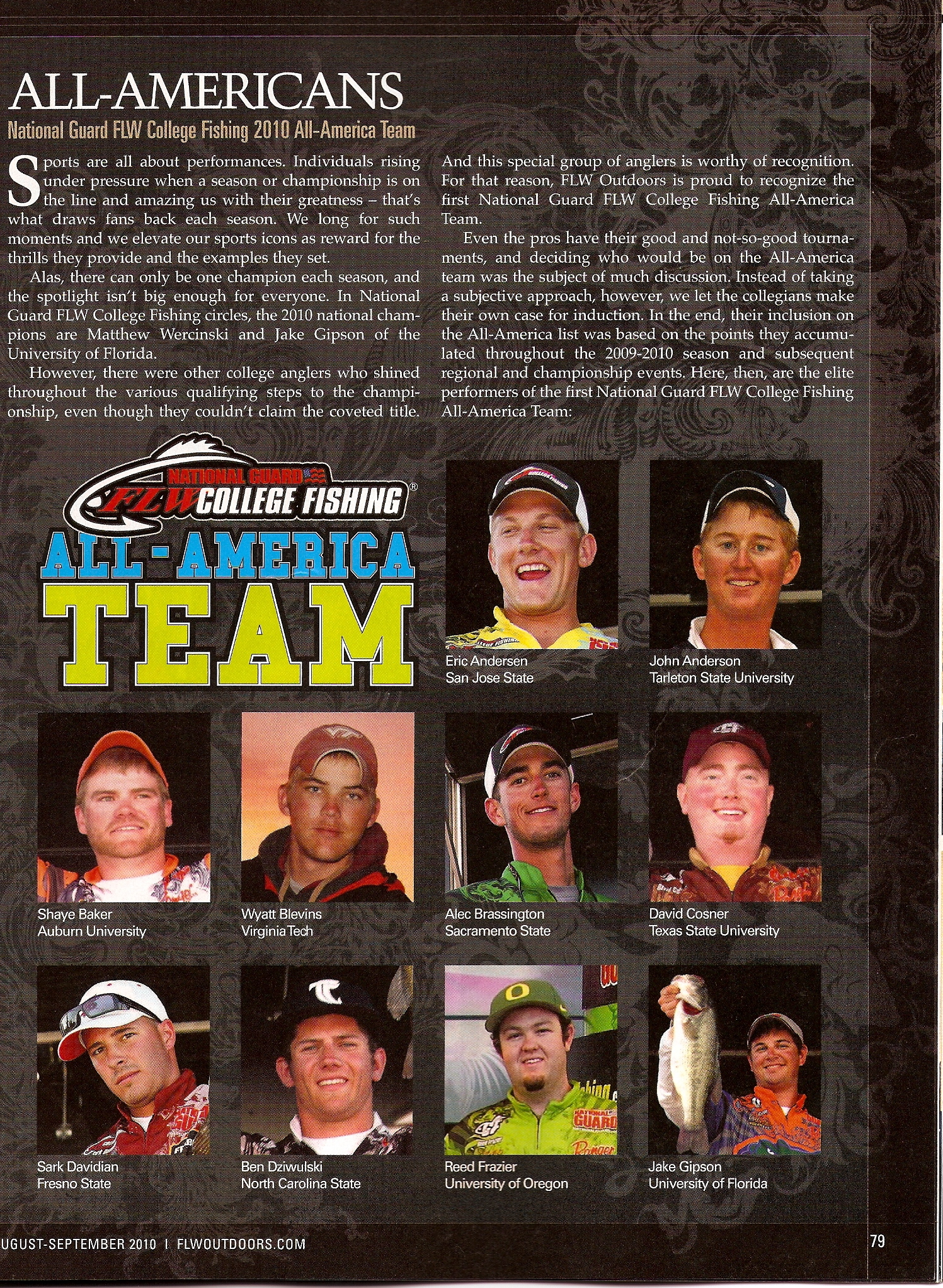 allamerican  FLW College Fishing All American Team